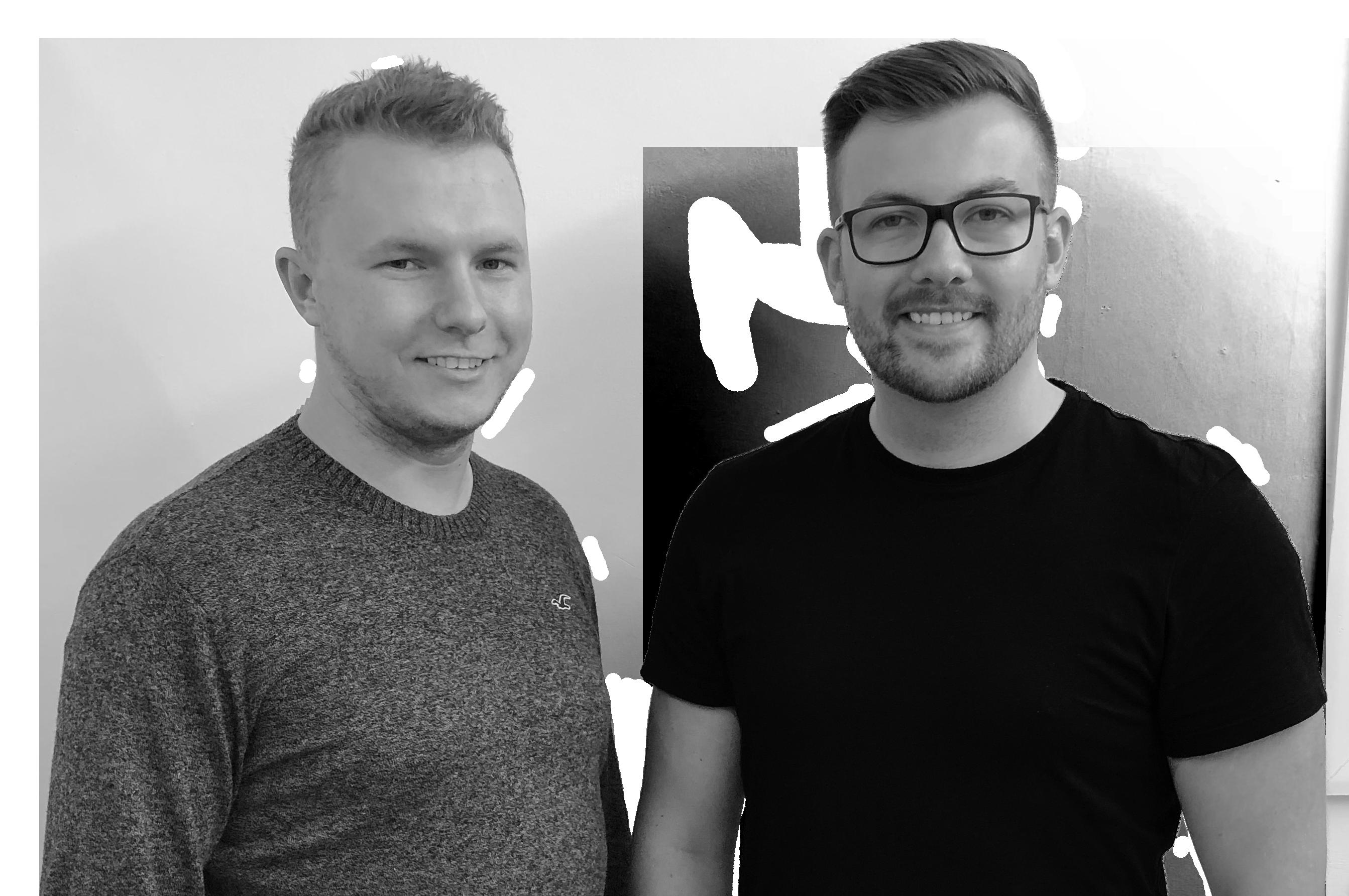 A portrait of Two web design/ developers